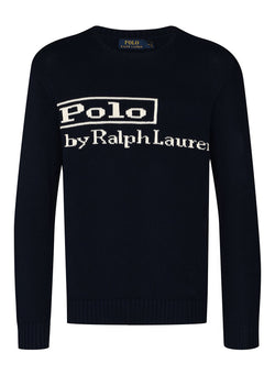ralph lauren polo long sleeve sweater hunter navy aw 2020