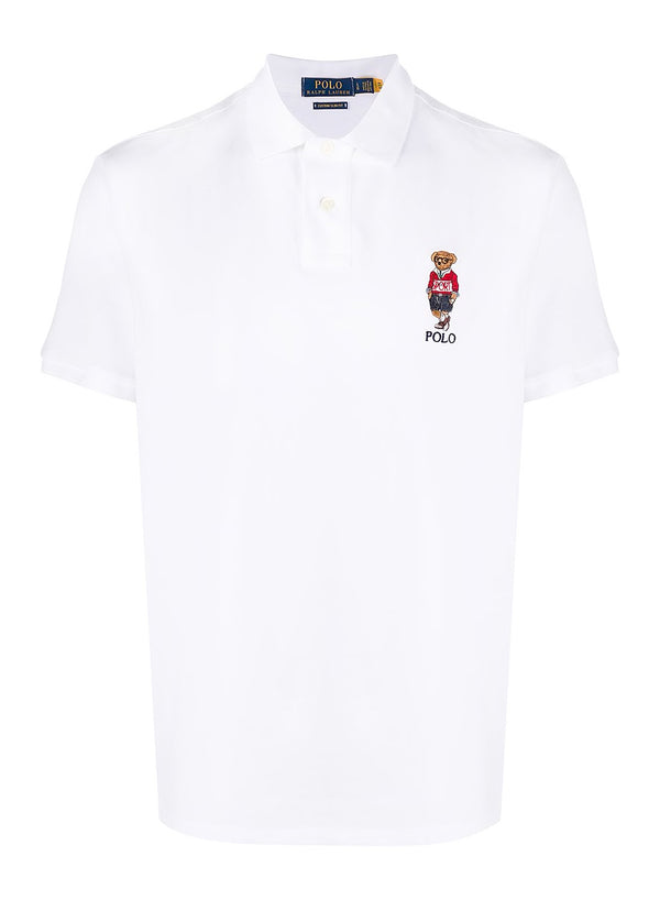 ralph lauren polo short sleeve bear polo shirt white aw 2020