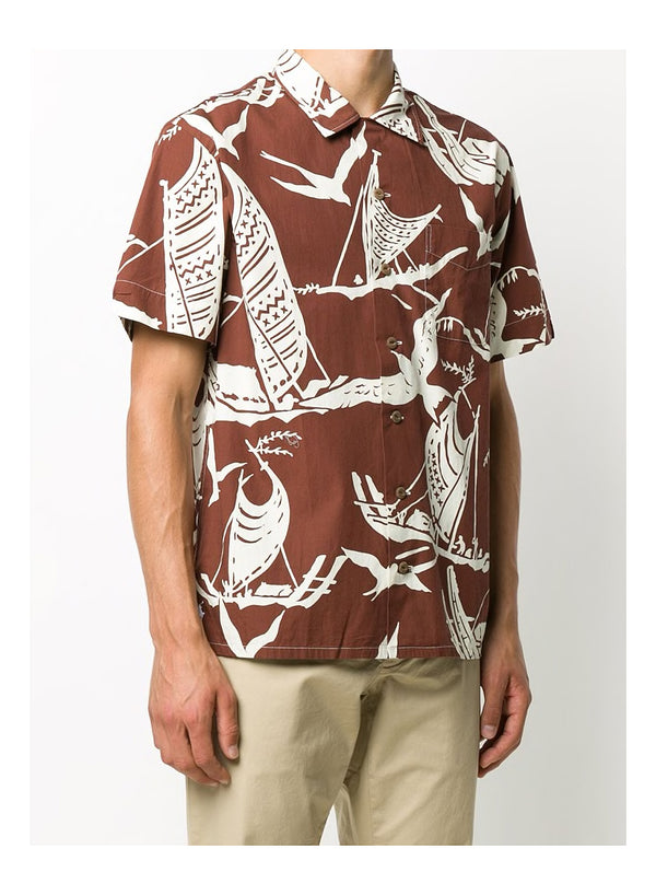 Short Sleeve Bird Shirt - Kon Tiki Expedition