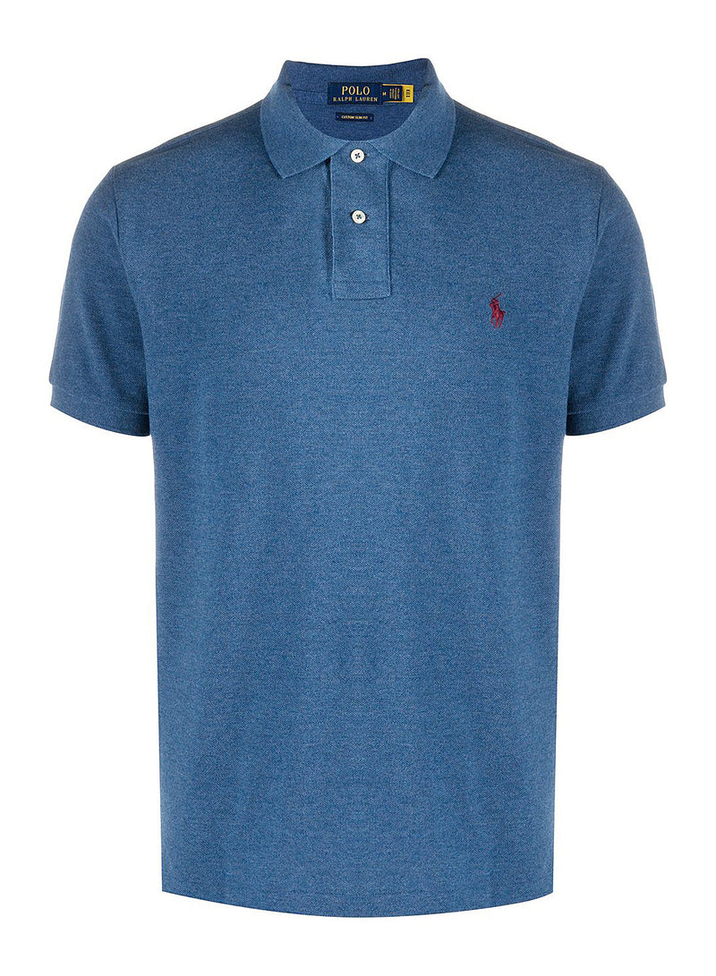 ralph lauren polo short sleeve knit royal heather aw 2020