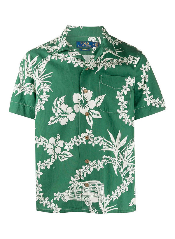 ralph lauren polo short sleeve sports shirt woody floral aw 2020