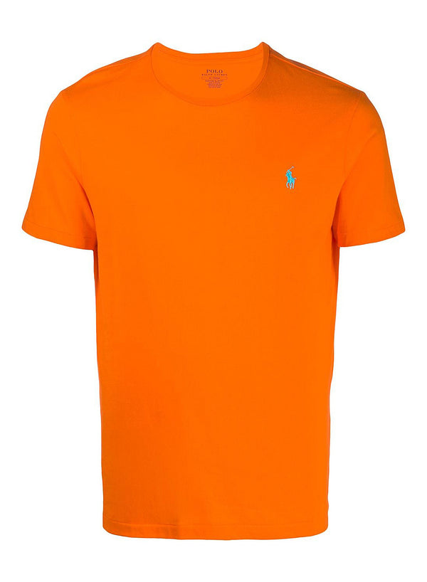 ralph lauren polo short sleeve tee orange flash aw 2020
