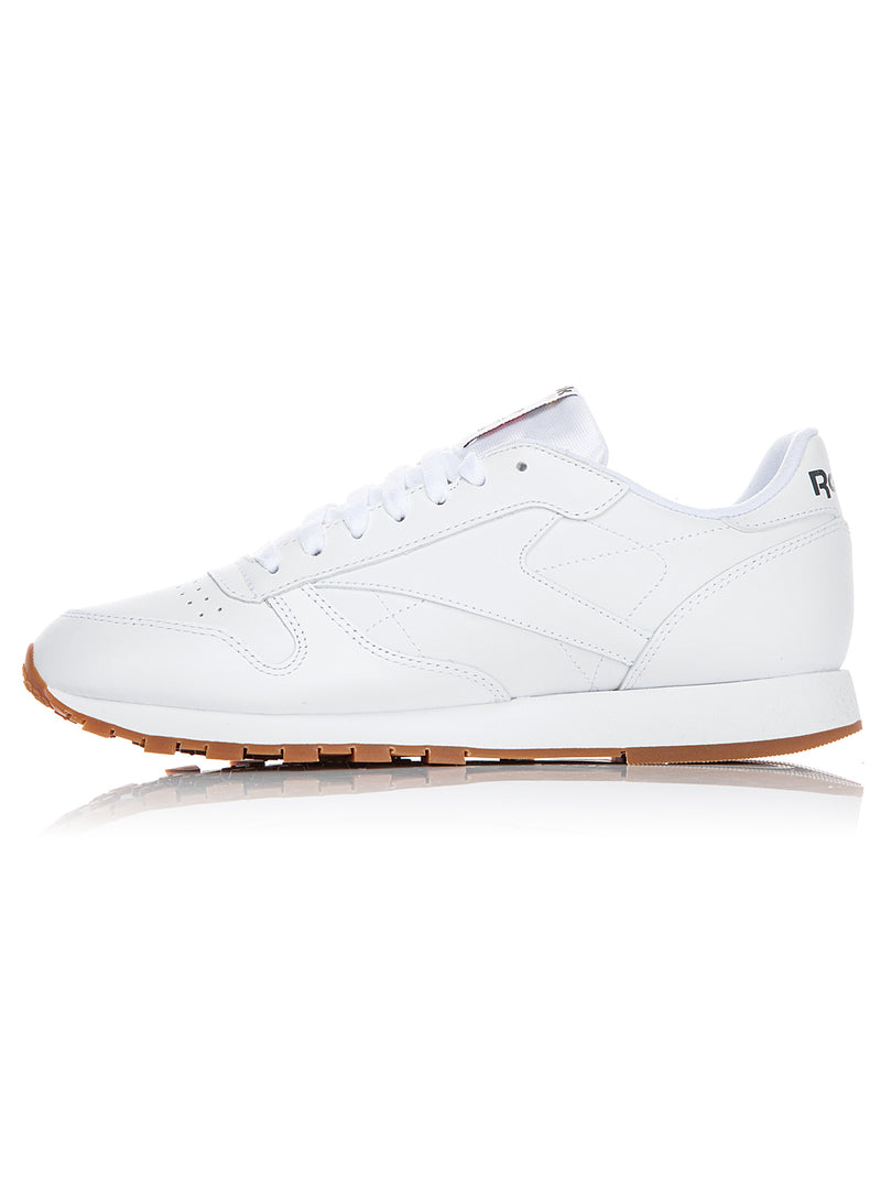 Cl LTHR Trainer - White/Gum