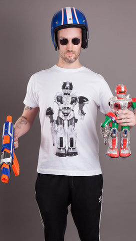 1001 Pieces Of Shit 'Robot' Tee - White