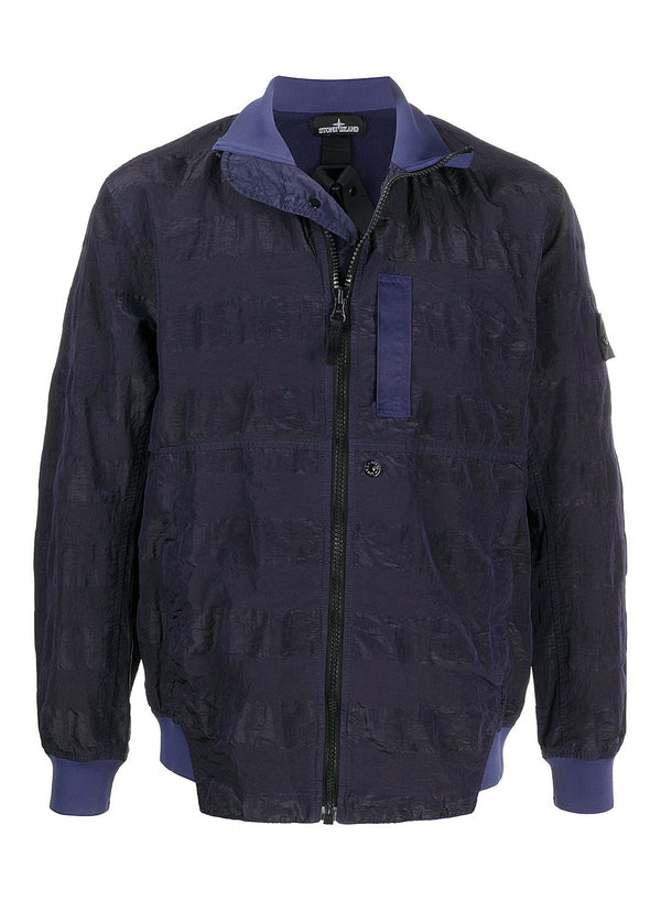 stone island shadow project striped nylon metal jacket navy ss 2020