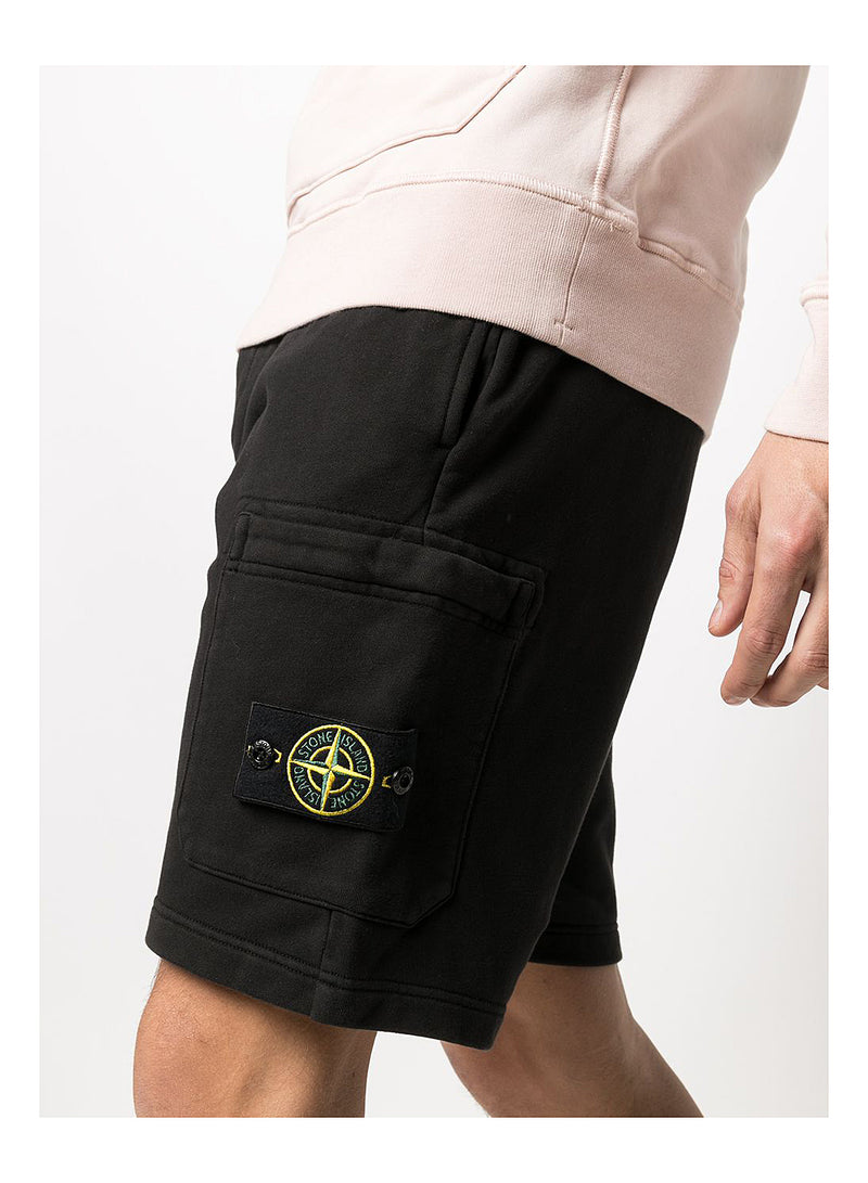 Bermuda Cargo Shorts - Black