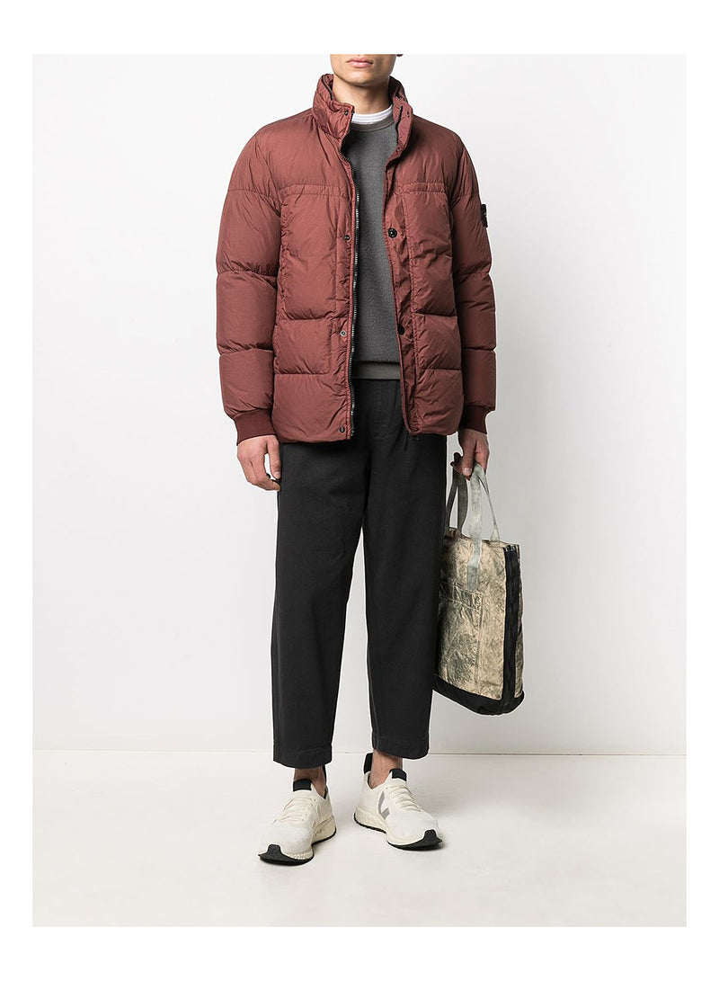 Garment Dyed Crinkle Reps NY Down Jacket - Dark Burgundy