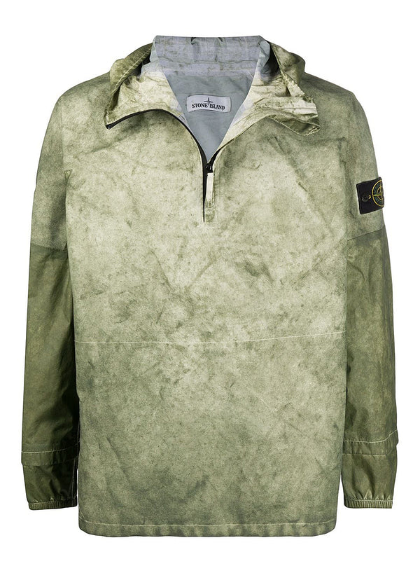 stone island membrana oxford 3l with dust colour finish jacket green ss 2020