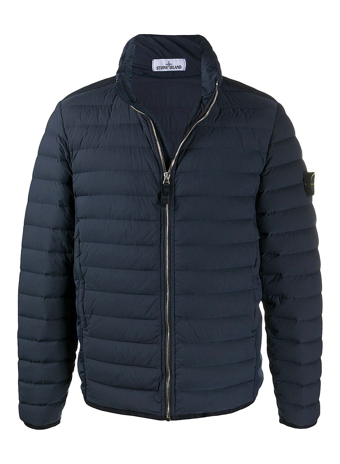 Real Down Loom Woven Stretch Jacket - Navy