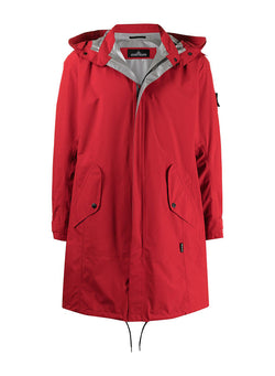 stone island shadow project goretex paclite parka jacket red ss 2021