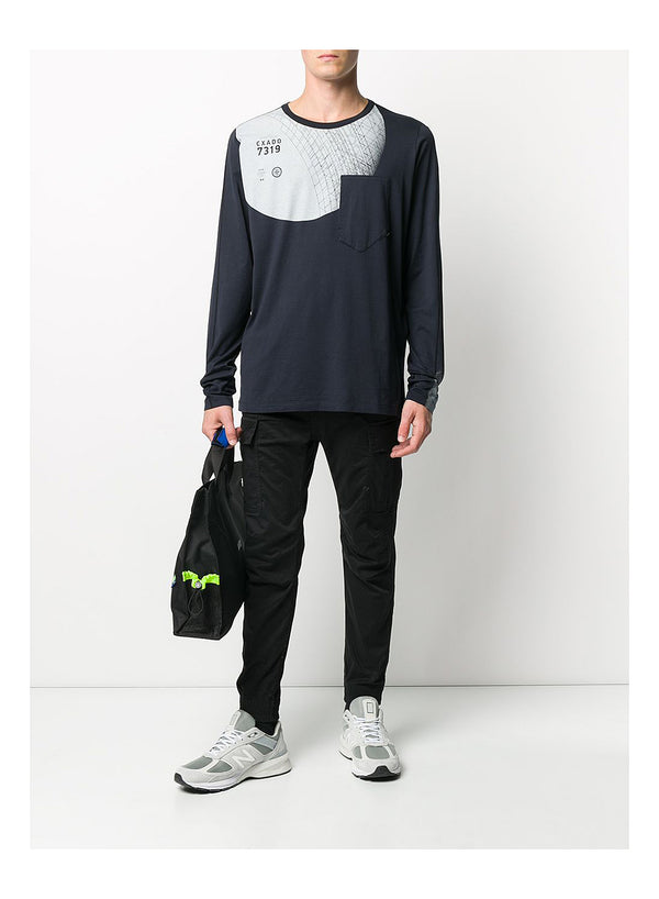 Long Sleeve Graphic Tee - Indigo