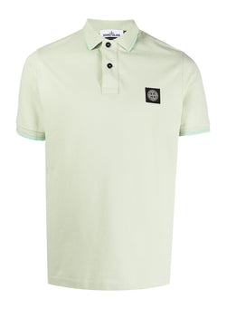 stone island small logo polo shirt light green ss 2021