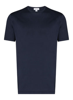 sunspel classic crew neck tee navy ss 2021