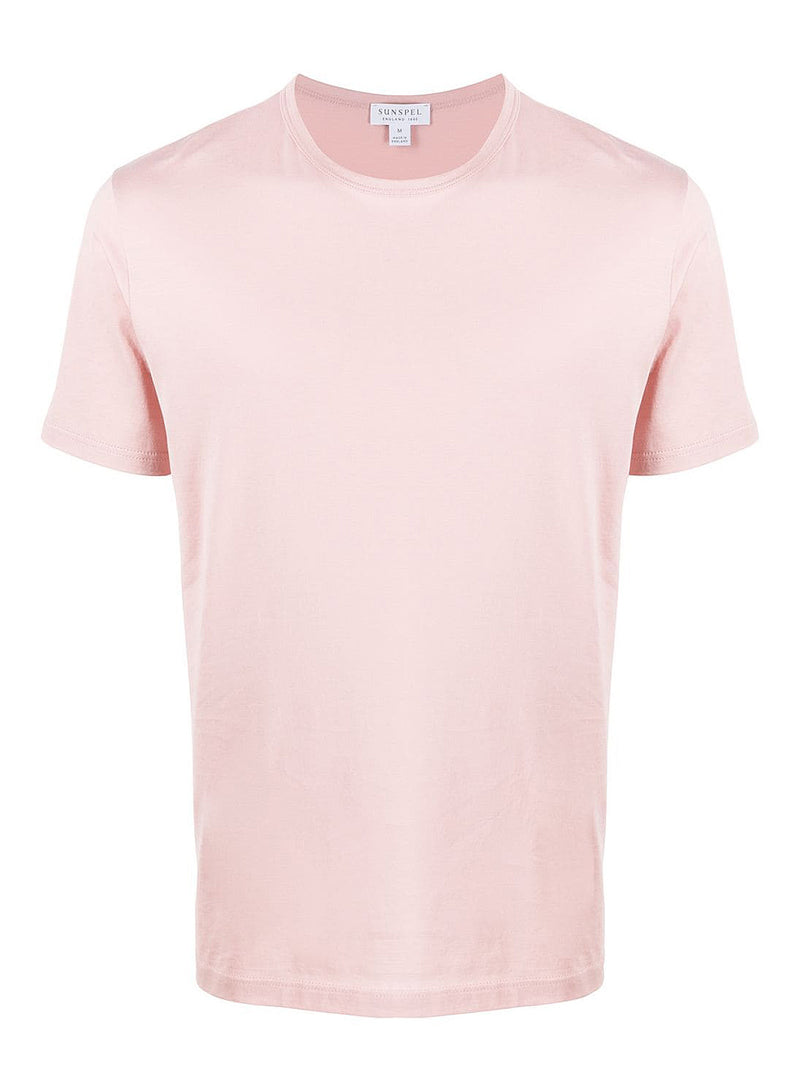 sunspel crew neck tee dusty pink aw 2020
