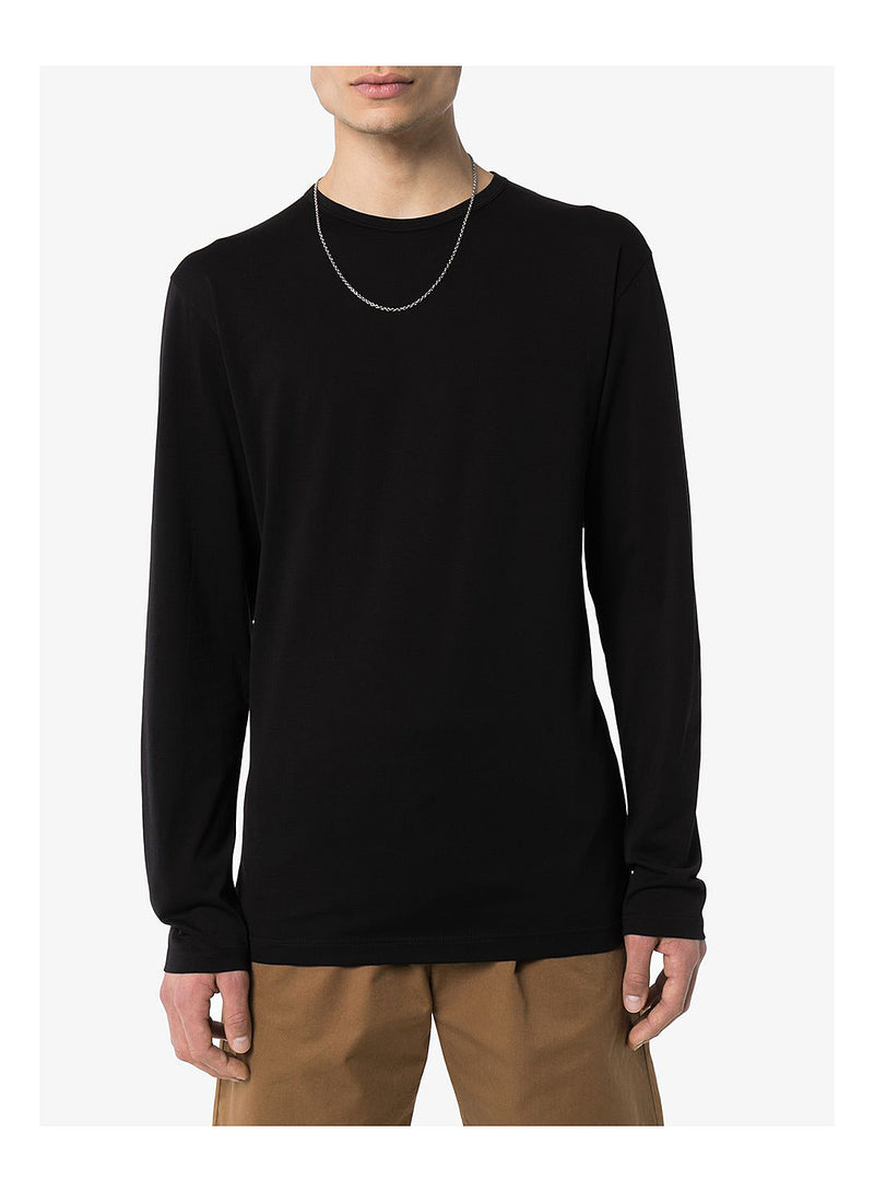 Long Sleeve Crew Neck Tee - Black