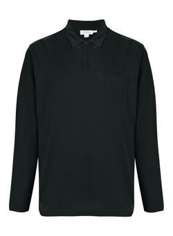 Riviera Long Sleeve Polo Shirt - Black