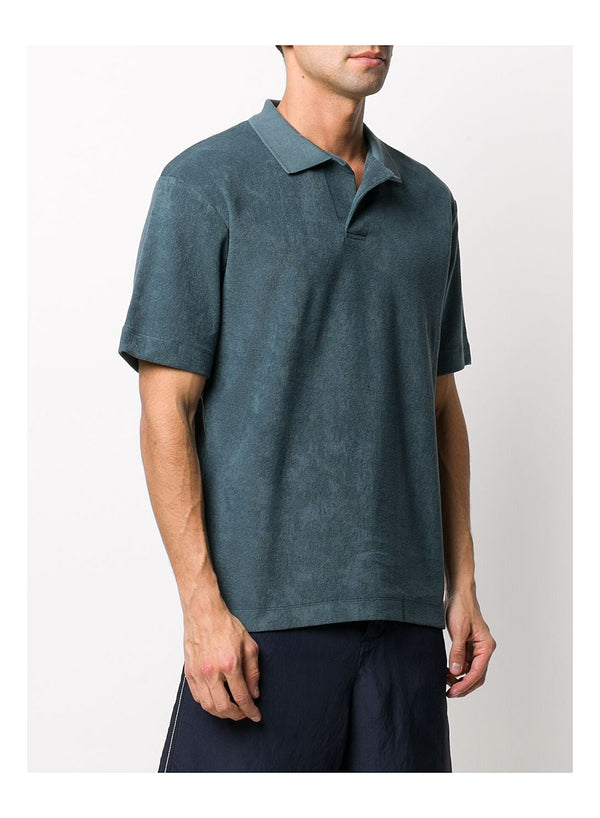 Short Sleeve Terry Polo - Dark Petrol