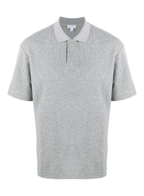 sunspel short sleeve terry polo grey melange ss 2020