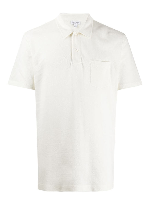 sunspel s s riviera polo shirt archive white ss 2020