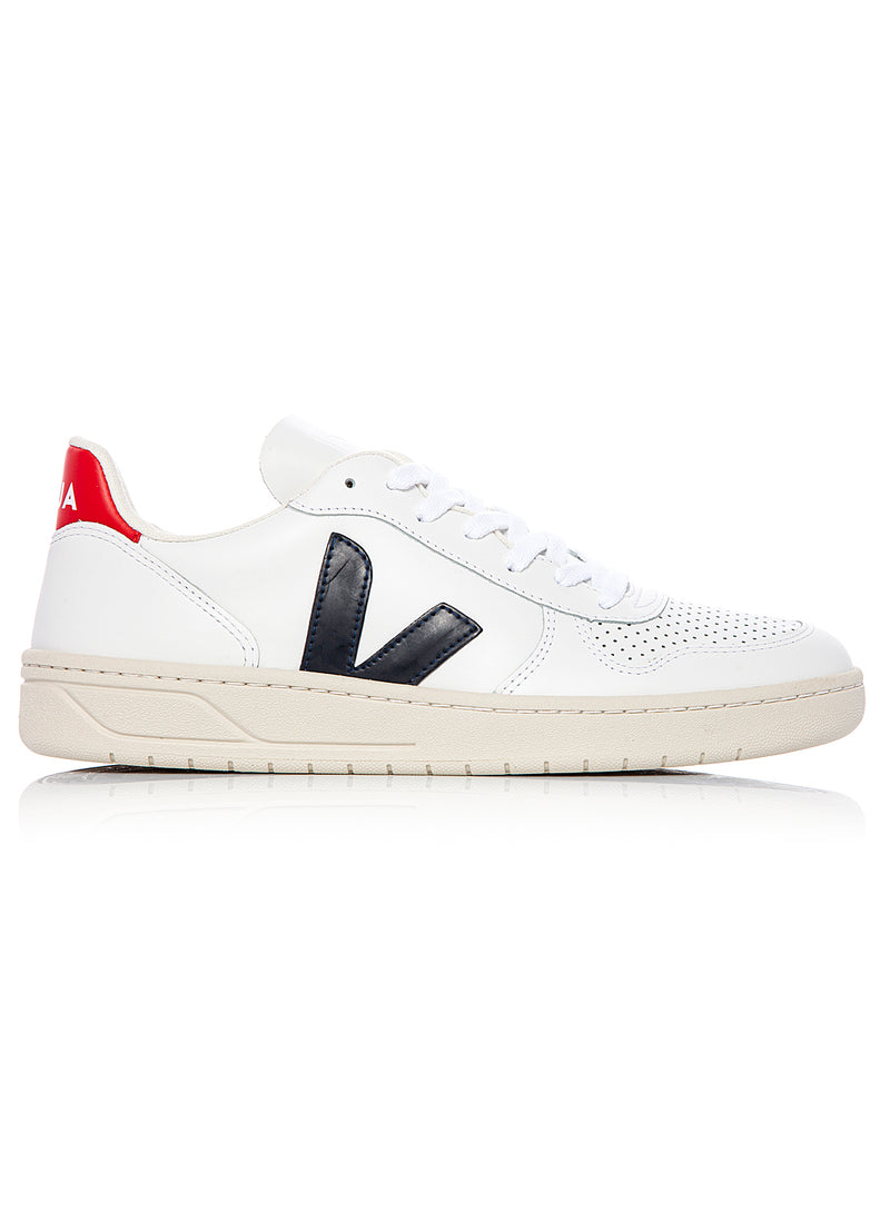 veja v10 leather trainer extra white nautico aw 2020
