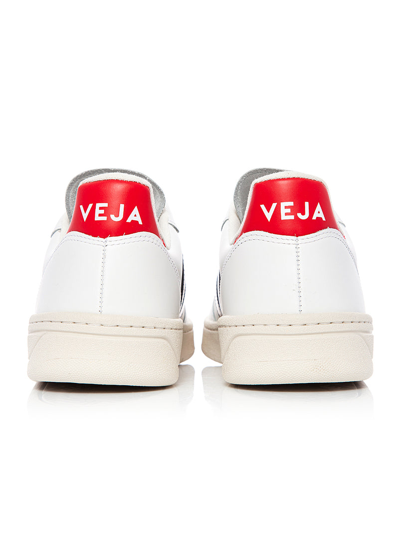 V-10 Leather Trainer - Extra White Nautico