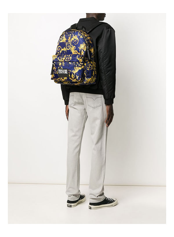 All Over Logo Print Backpack - Aviator Blue