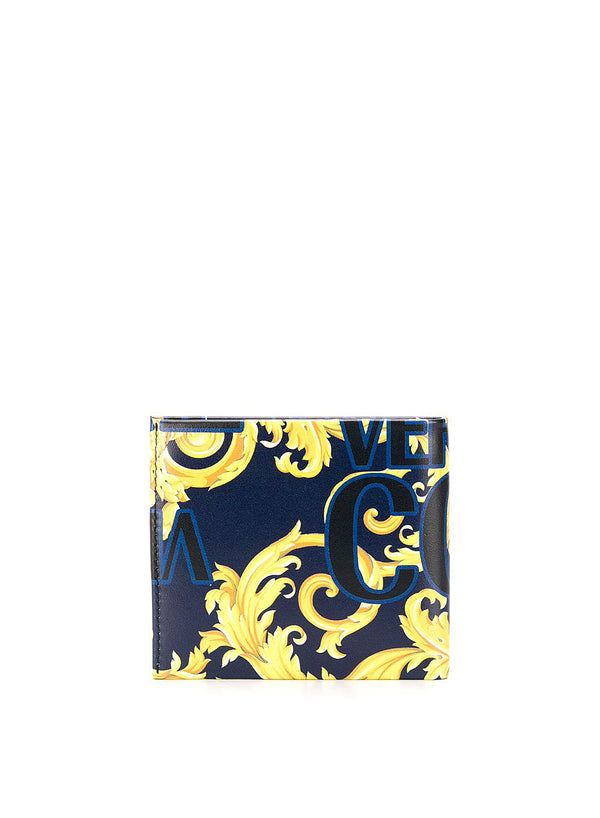 versace jeans all over logo print wallet aviator blue ss 2020