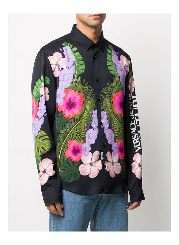 Floral Long Sleeve Shirt - Hawaiian Print