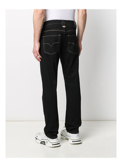 versace jeans gold stitch regular fit jean black ss 2020