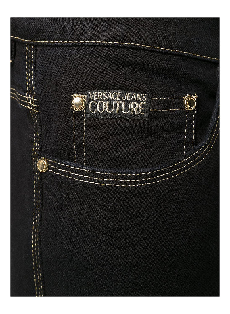 Gold Stitch Regular Fit Jean - Black
