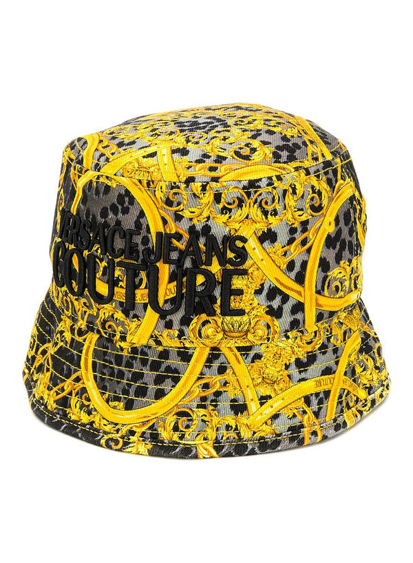 versace jeans leopard and baroque bucket hat grey ss 2020