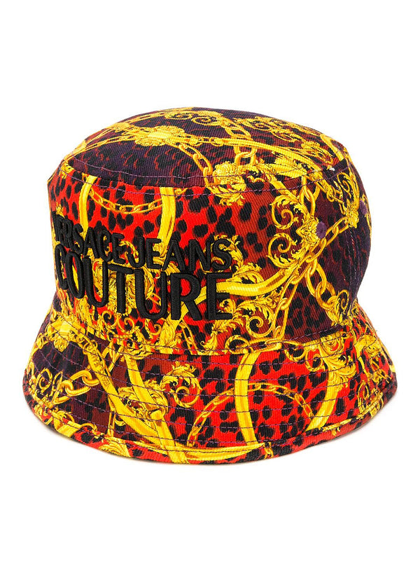 versace jeans leopard and baroque bucket hat red ss 2020