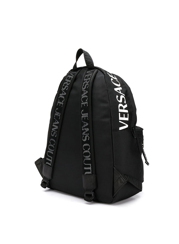 Printed Logo Backpack - Black