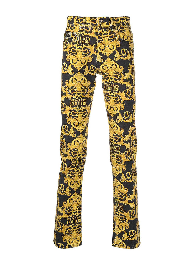 versace jeans couture baroque jeans black ss 2021
