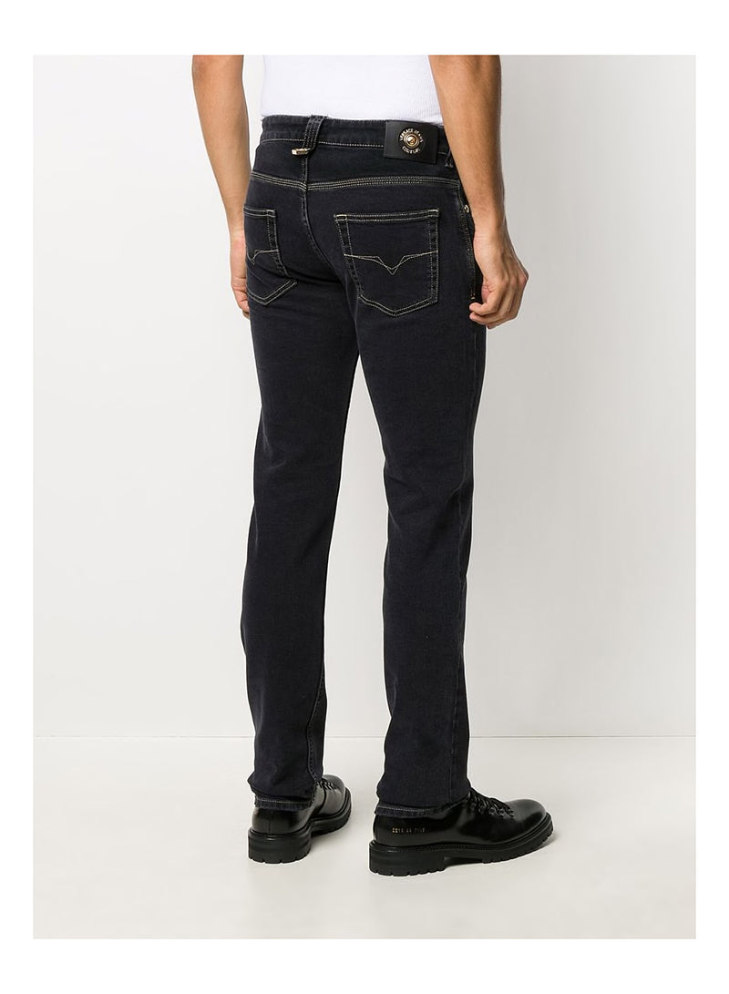 Gold Stitch Jeans - Black