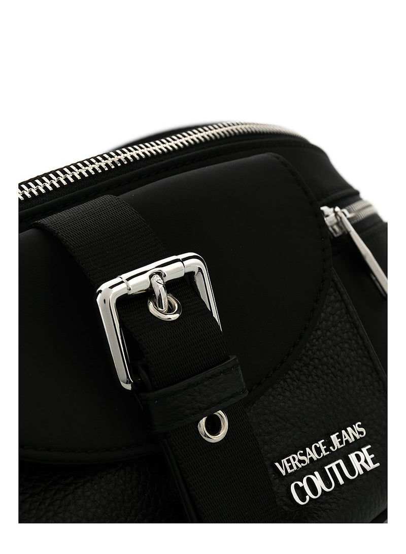 Leather Detail Bum Bag - Black