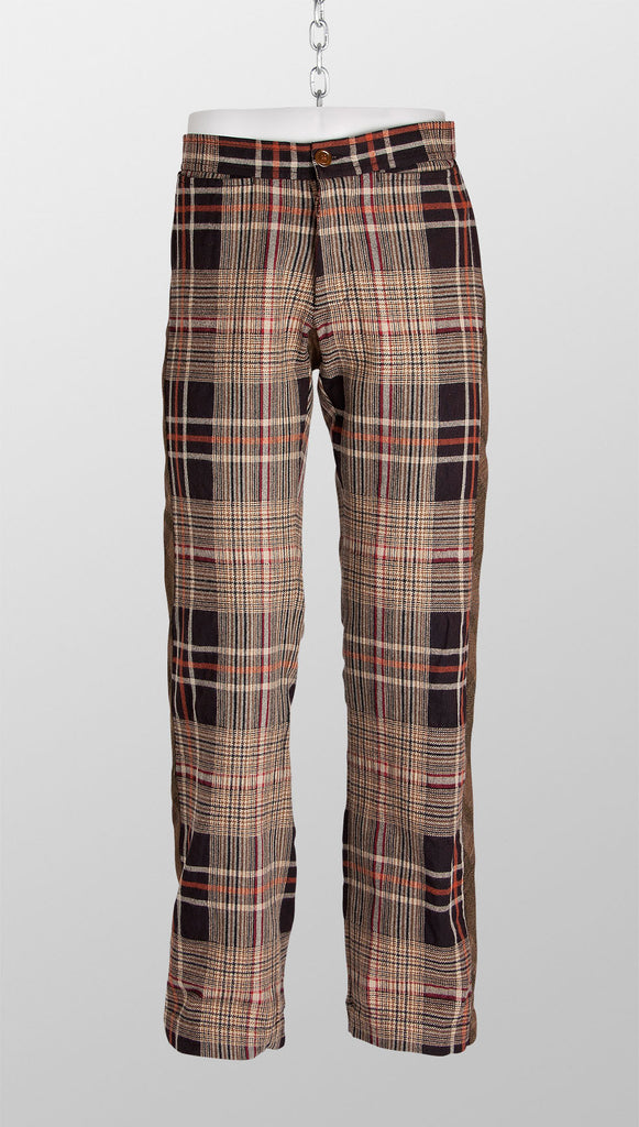 Vivienne Westwood MAN Check Trousers - Brown/Orange
