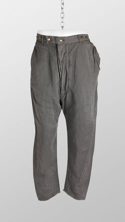 vivienne westwood anglomania linenmix sinchback trousers front