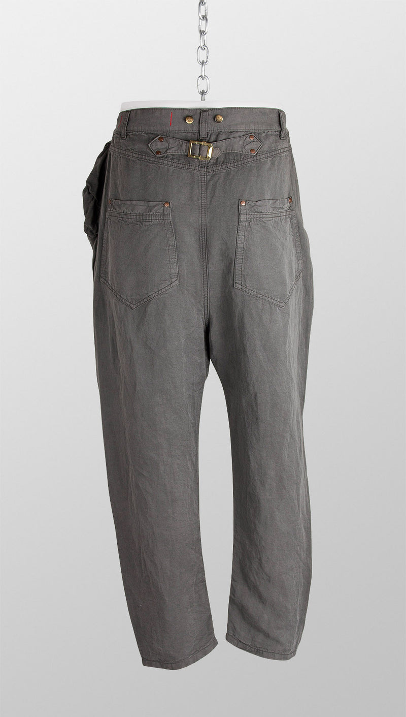 vivienne westwood anglomania linenmix sinchback trousers back