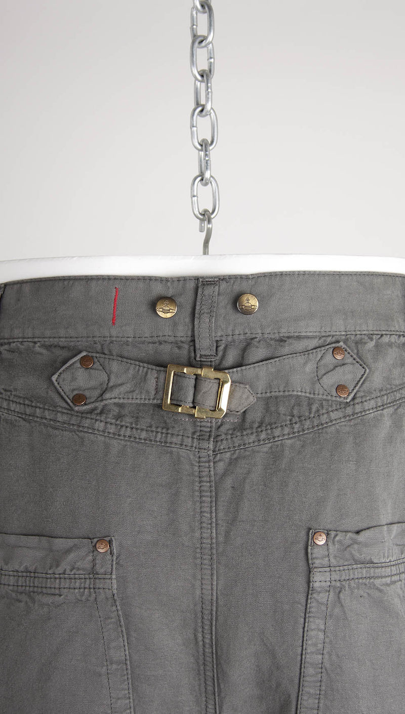 vivienne westwood anglomania linenmix sinchback trousers detail
