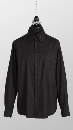 vivienne westwood anglomania rubber buttons shirt black