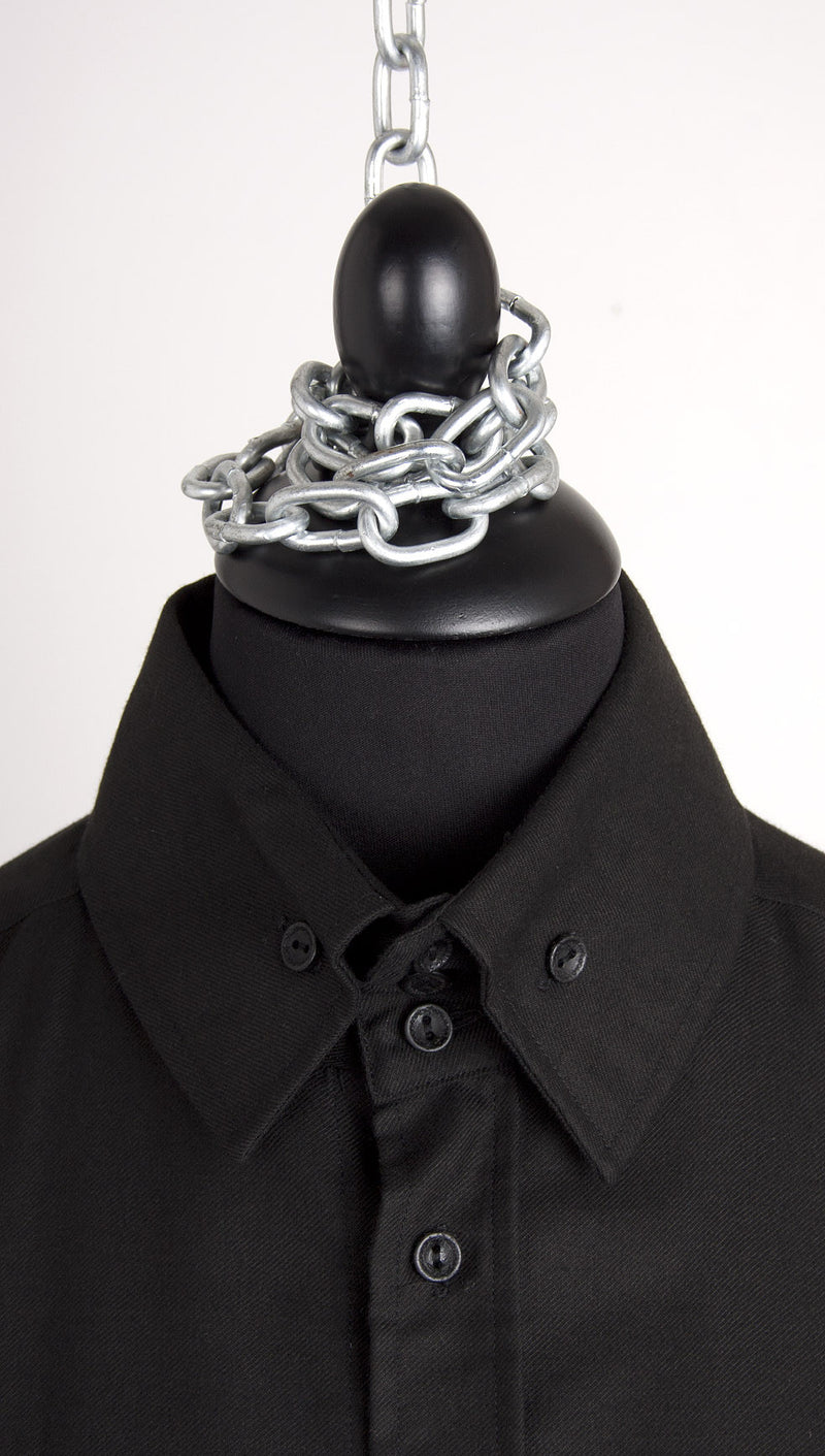 vivienne westwood anglomania rubber buttons shirt black collar