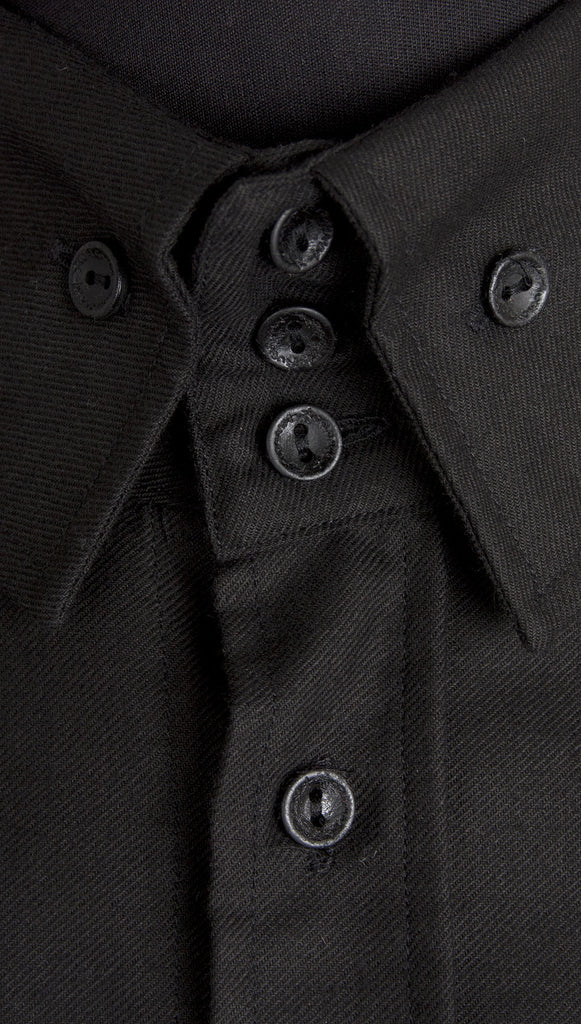 Vivienne Westwood Anglomania Rubber Buttons Shirt – Black
