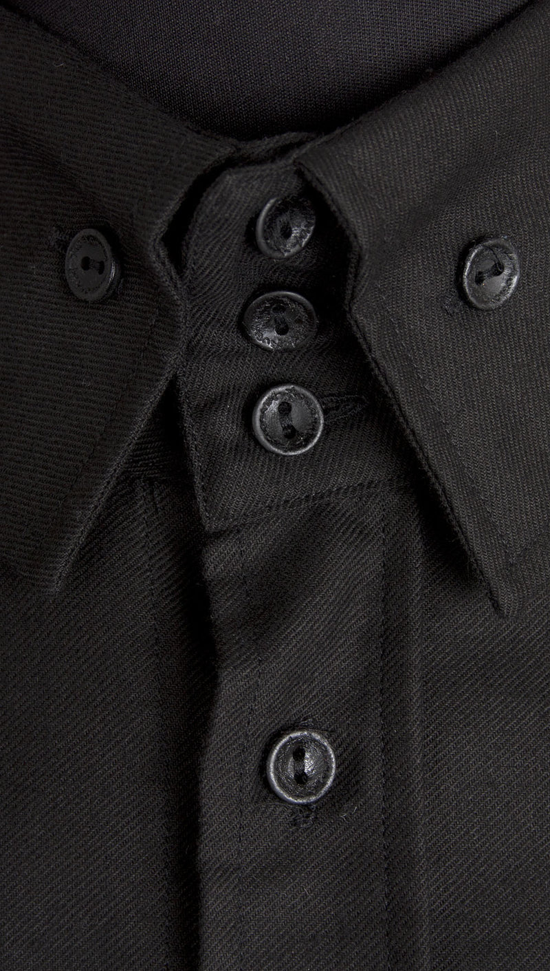 vivienne westwood anglomania rubber buttons shirt black collar buttons