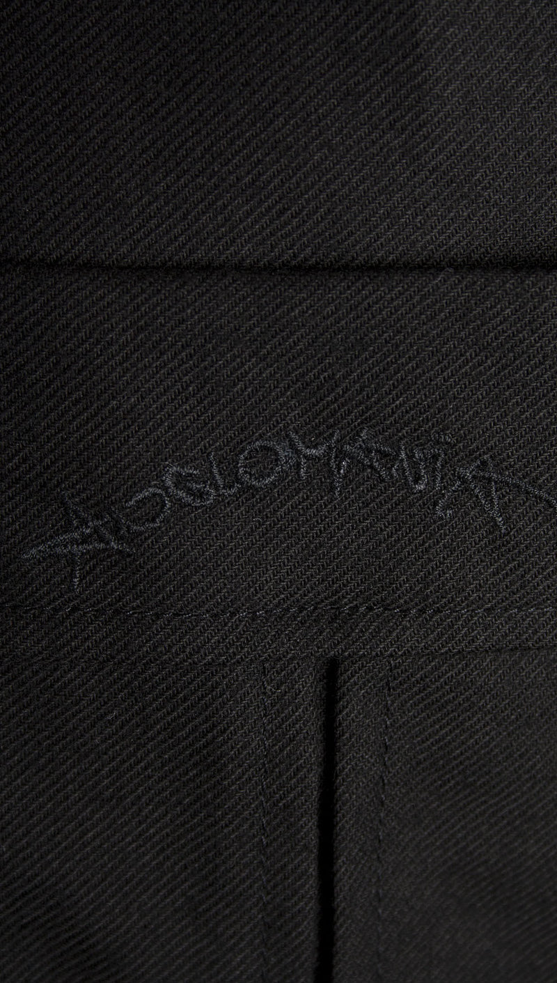 vivienne westwood anglomania rubber buttons shirt black logo close up