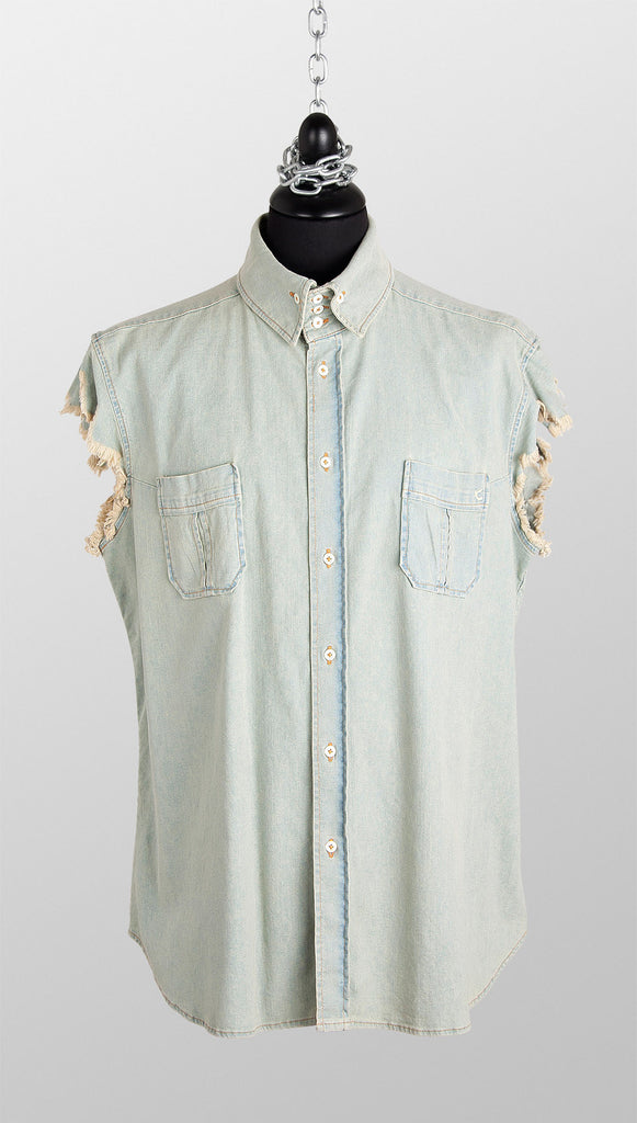 Vivienne Westwood Anglomania Sleeveless Denim Shirt
