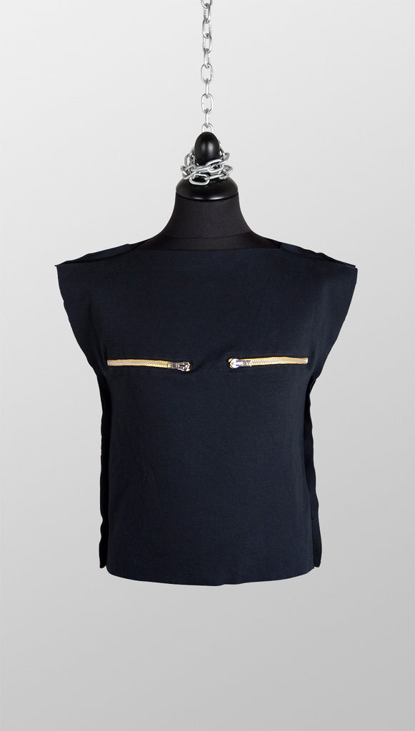 Vivienne Westwood Anglomania Sleeveless Nipple Zip Top