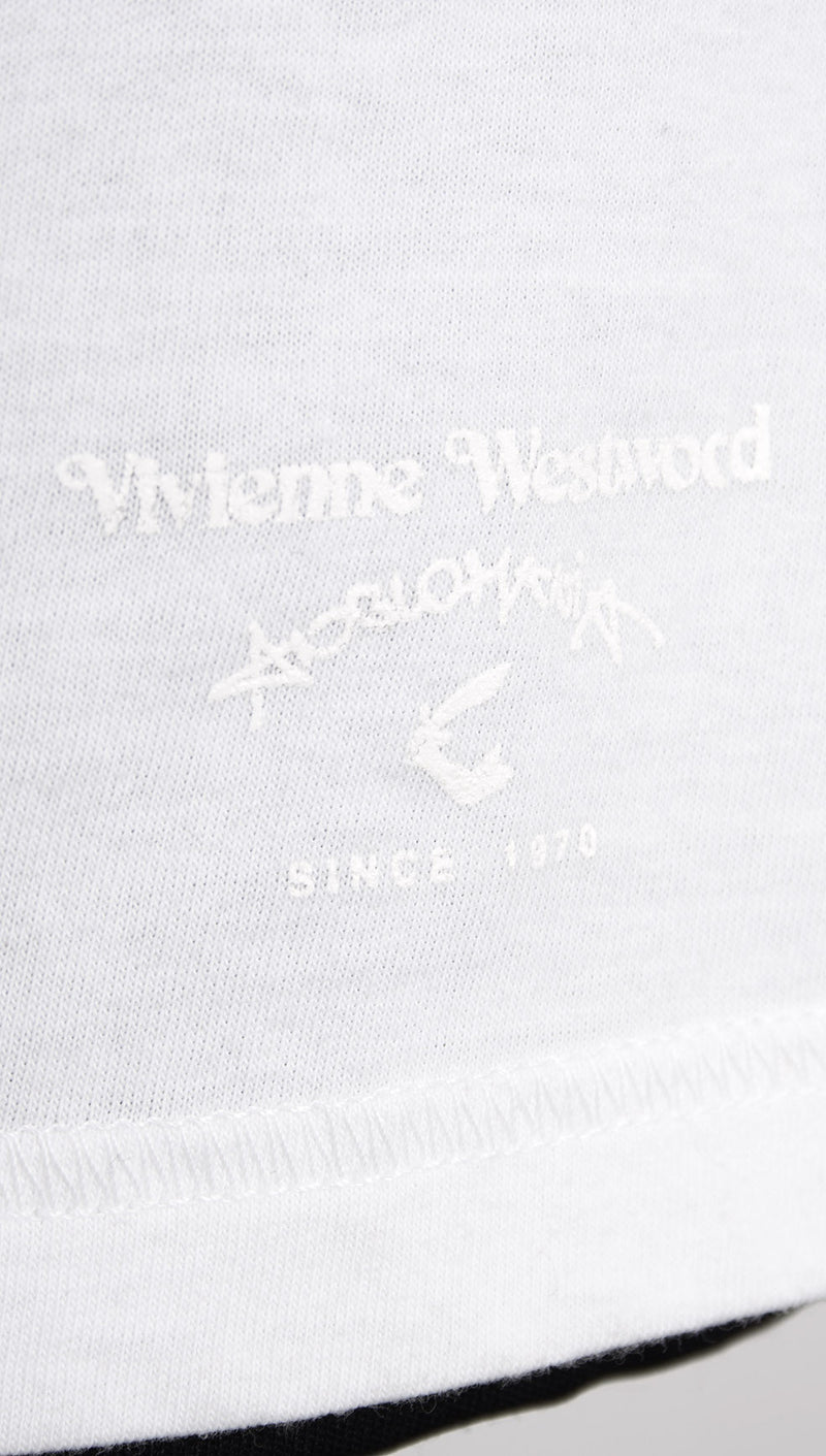vivienne westwood anglomania zip tshirt white logo detail