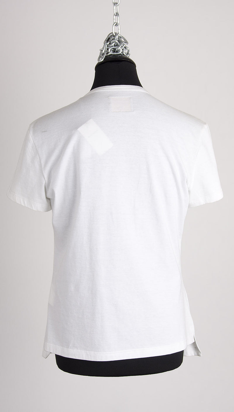 vivienne westwood anglomania zip tshirt white back