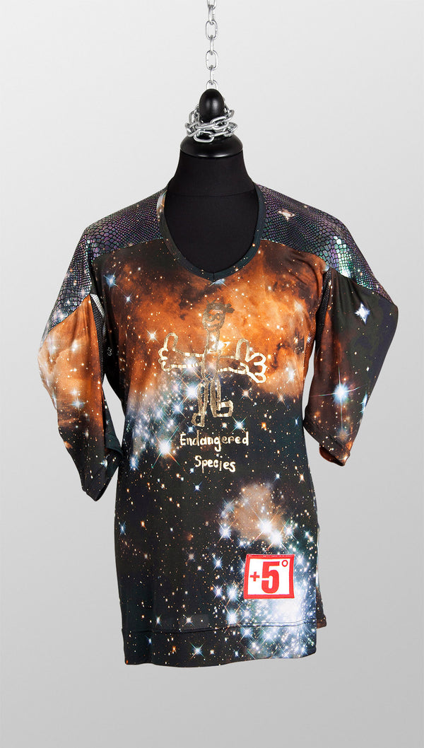 vivienne westwood gold label endangered species asymmetric tee nebula front